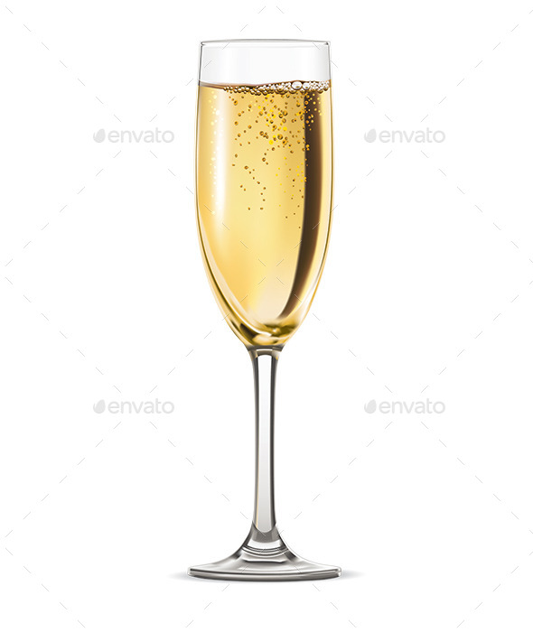 Glass of Champagne - Food Objects