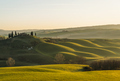 Dramatic Sunrise at Tuscan farmlands. The photograph was taken in Val d'Orcia countryside - PhotoDune Item for Sale