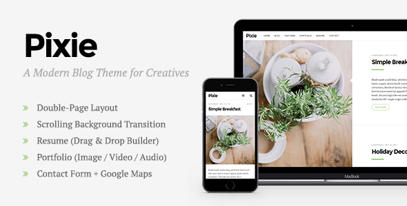 Pixie – Modern WordPress Blog Theme for Creatives