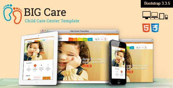 Big Care – Child Care & Shop Template