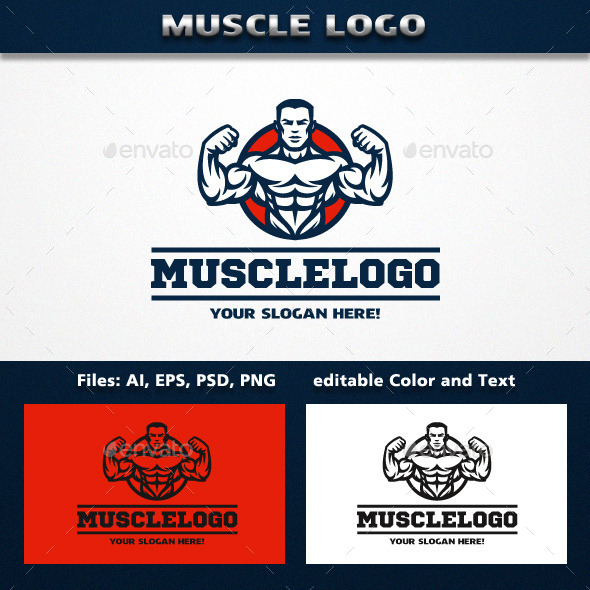 MuscleMan Logo - Humans Logo Templates