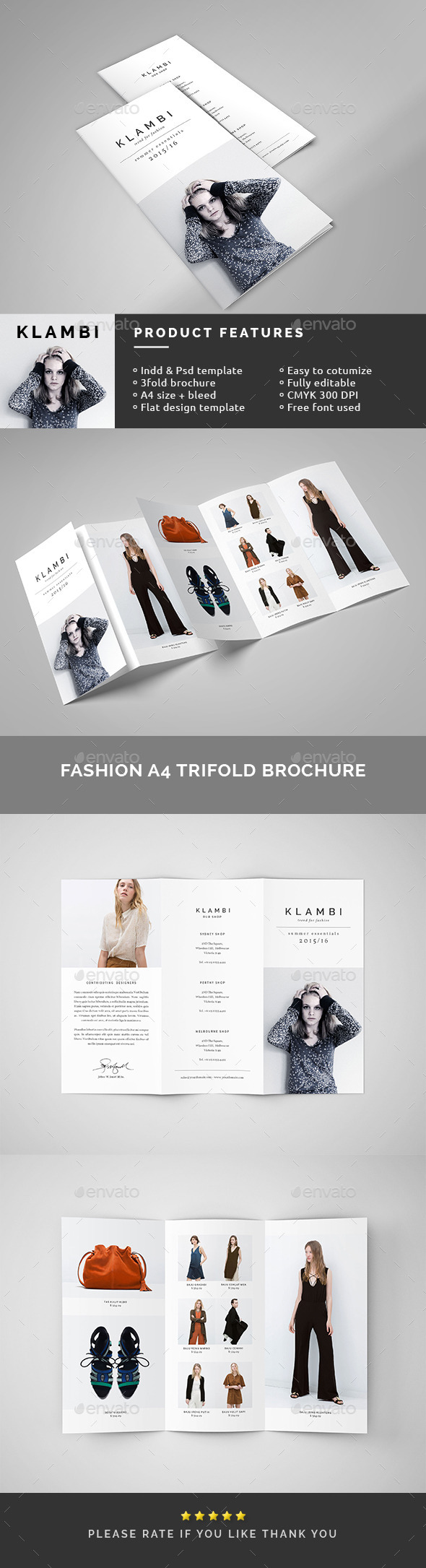 Fashion A4 Trifold Brochure - Catalogs Brochures