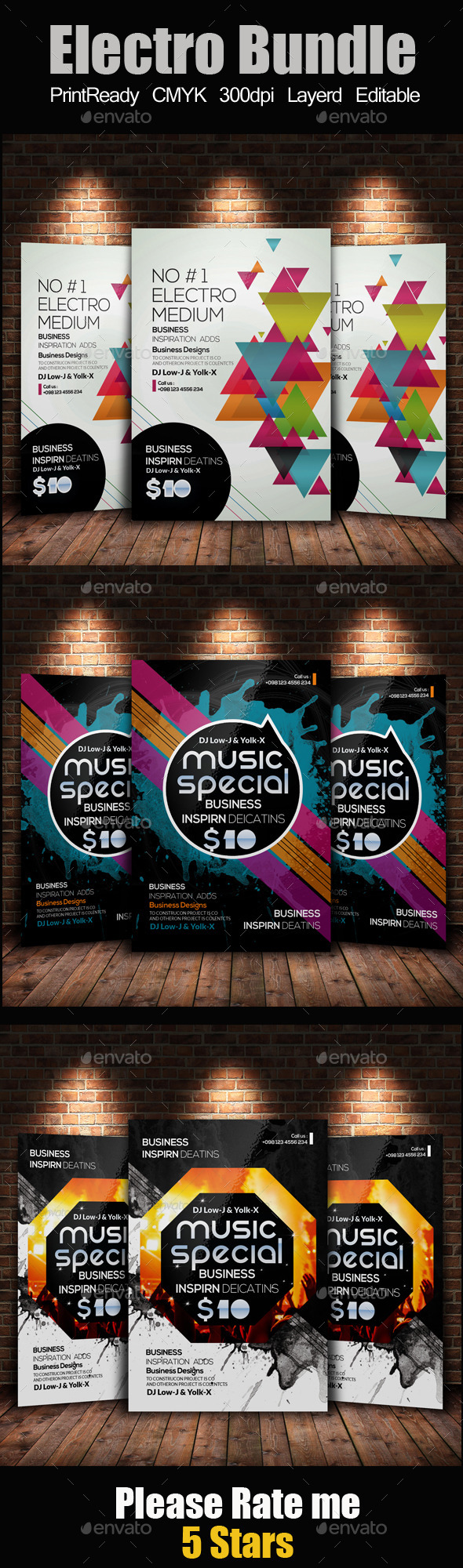 Creative Abstract Flyer Template Bundle - Clubs & Parties Events
