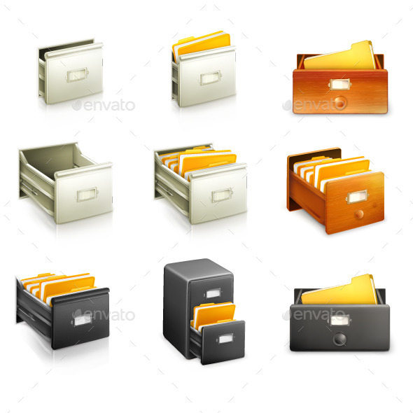 Different Card Catalogs - Man-made Objects Objects