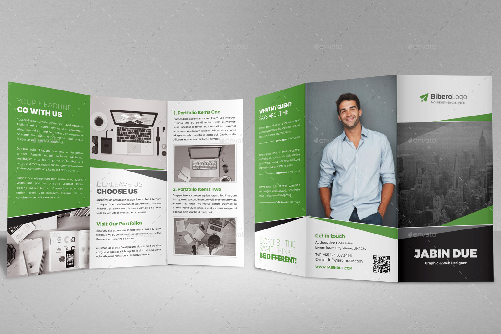 trifold brochure indesign template - portfolio trifold brochure indesign template by jbn