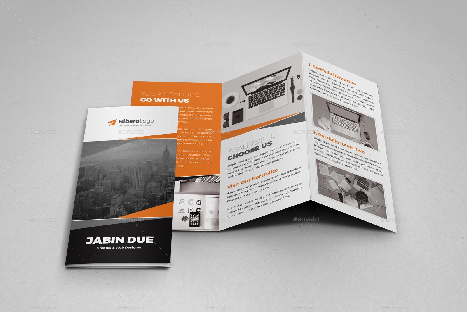 Portfolio Trifold Brochure Indesign Template by Jbn-Comilla ...