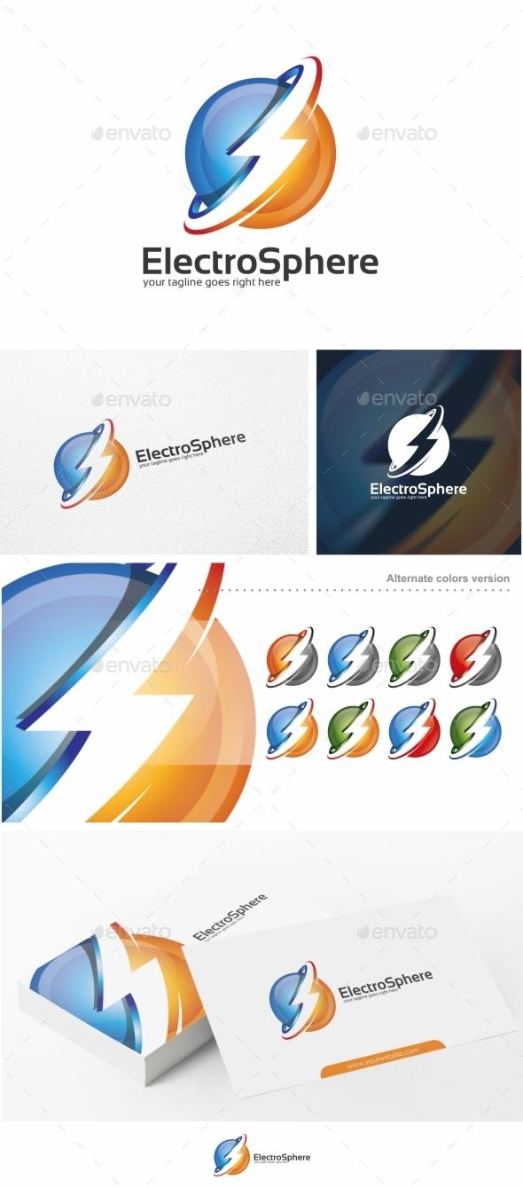 Electro Sphere - Logo Template - Symbols Logo Templates