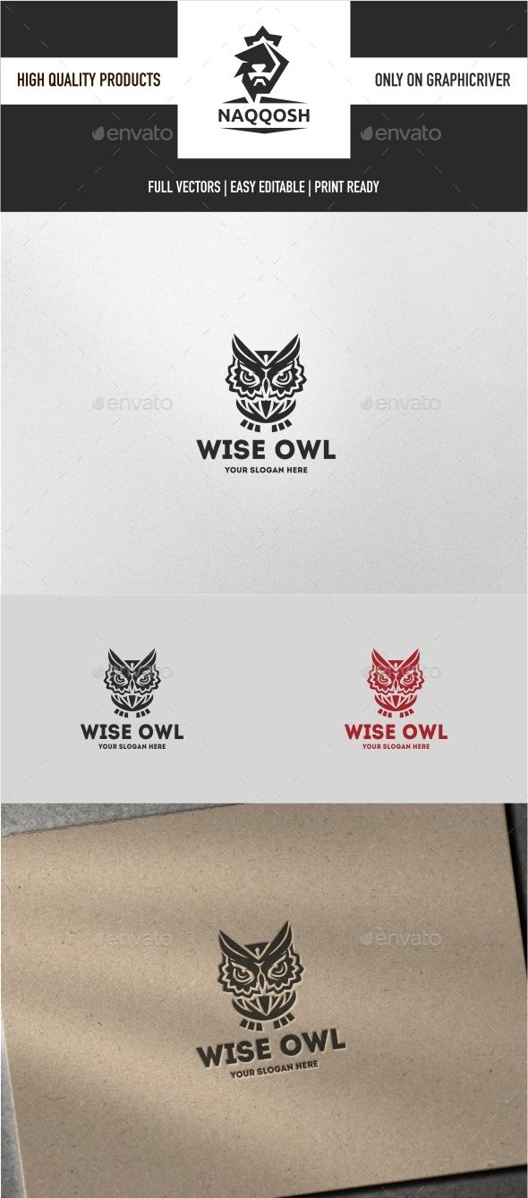 Wise Owl - Animals Logo Templates