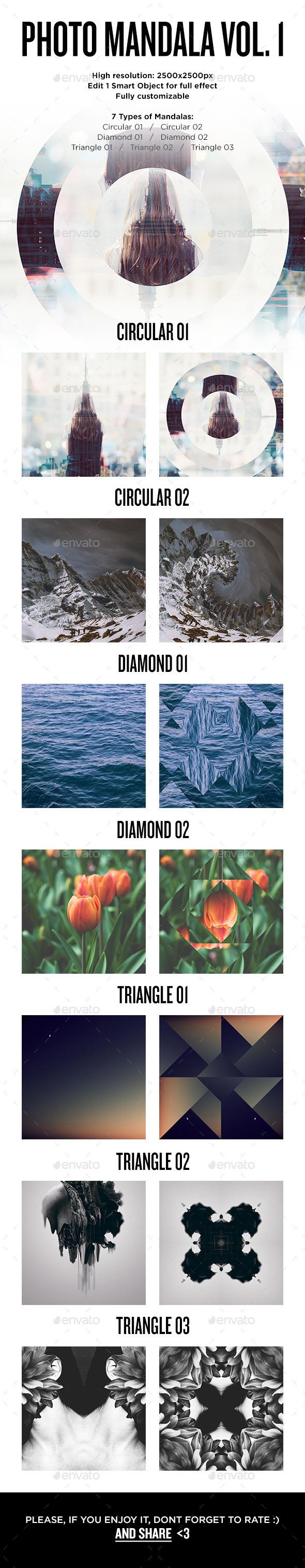 Photo Mandala Vol.1 - Kaleidoscope - Artistic Photo Templates