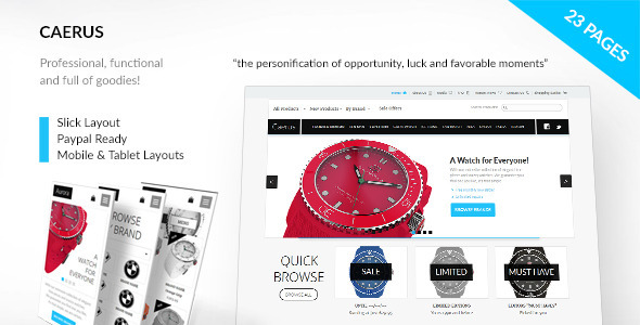 CAERUS - Multi-Purpose eCommerce Muse Template