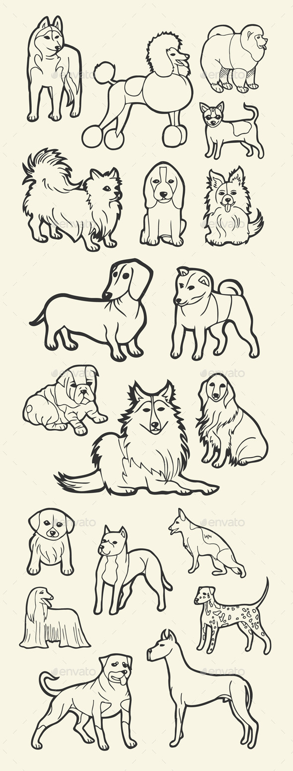 Dog Sketch - Animals Characters