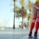 Low Angle Shot Of Roller Skating Girl - VideoHive Item for Sale
