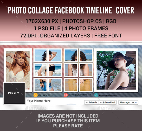 Photo Collage for Facebook Timeline  - Facebook Timeline Covers Social Media