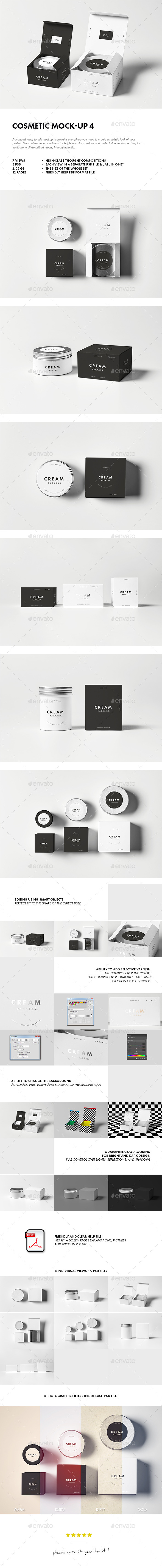 Cosmetic Mock-up 4 - Beauty Packaging