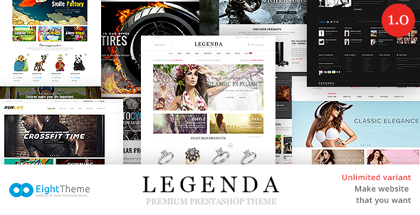 Legenda -Responsive Multi-Purpose Prestashop Theme