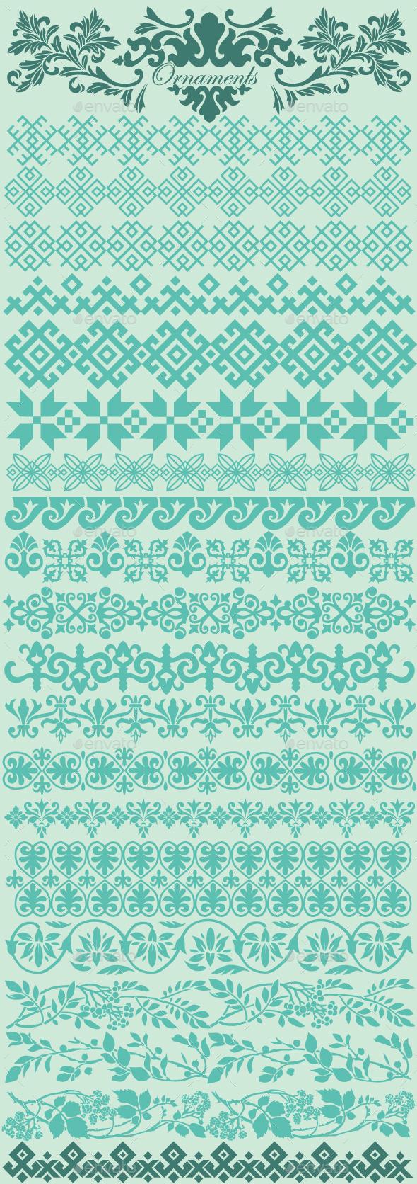 Ornaments - Flourishes / Swirls Decorative