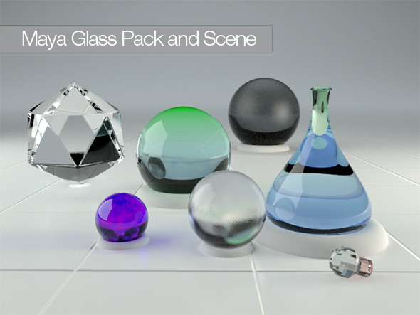 Maya Vray 2.0 Glass Pack - 3DOcean Item for Sale