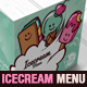 Illustrations Ice cream Brochure Menu Template  - GraphicRiver Item for Sale