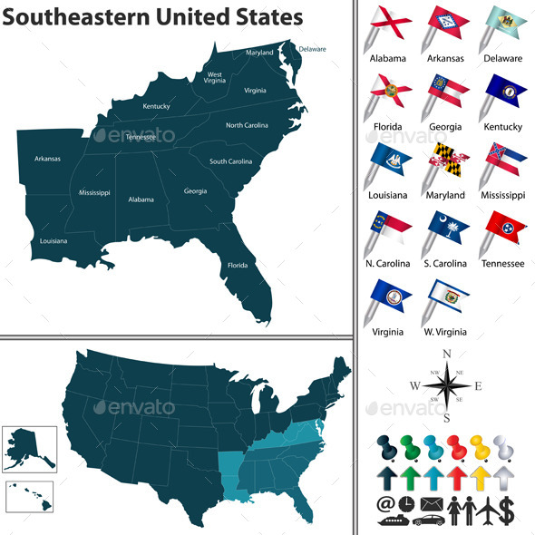 Southeastern United States - Travel Conceptual