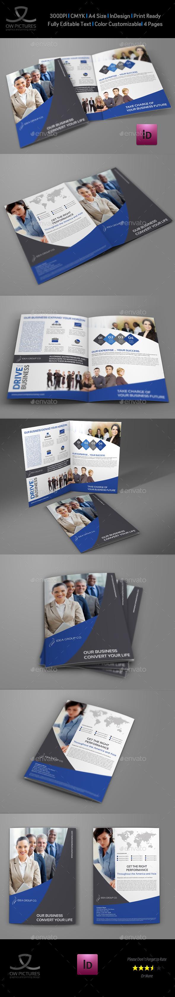 Company Brochure Bi-Fold Template Vol.31 - Corporate Brochures