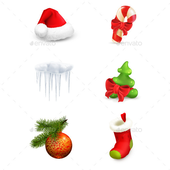 Christmas Set Icons - Christmas Seasons/Holidays