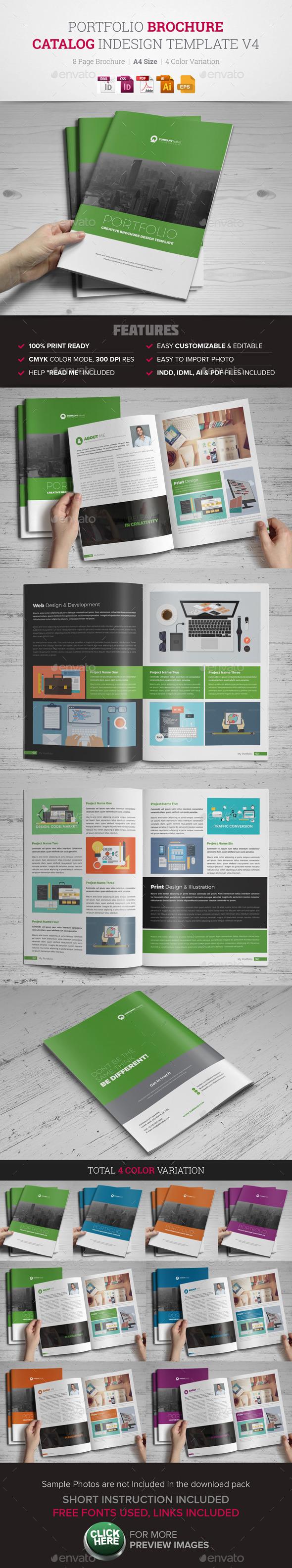 Portfolio Brochure InDesign Template v4  - Corporate Brochures