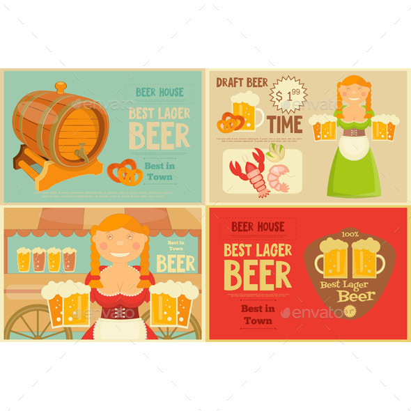Beer Posters Set - Food Objects