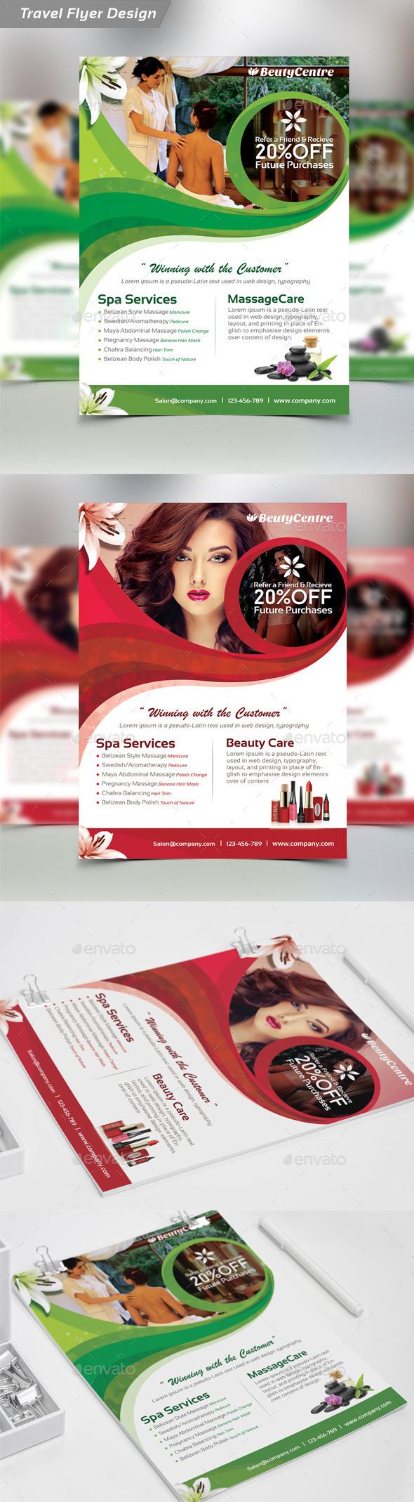 Beauty Salon Spa  - Flyer - Flyers Print Templates