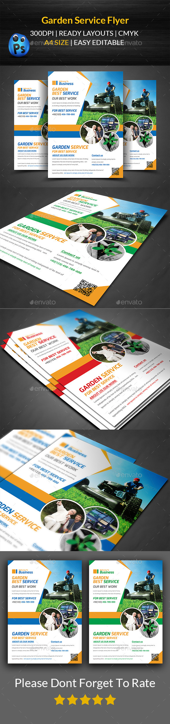 Garden Services Flyer Template  - Corporate Flyers