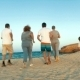Family Running To Sea In The Evening - VideoHive Item for Sale