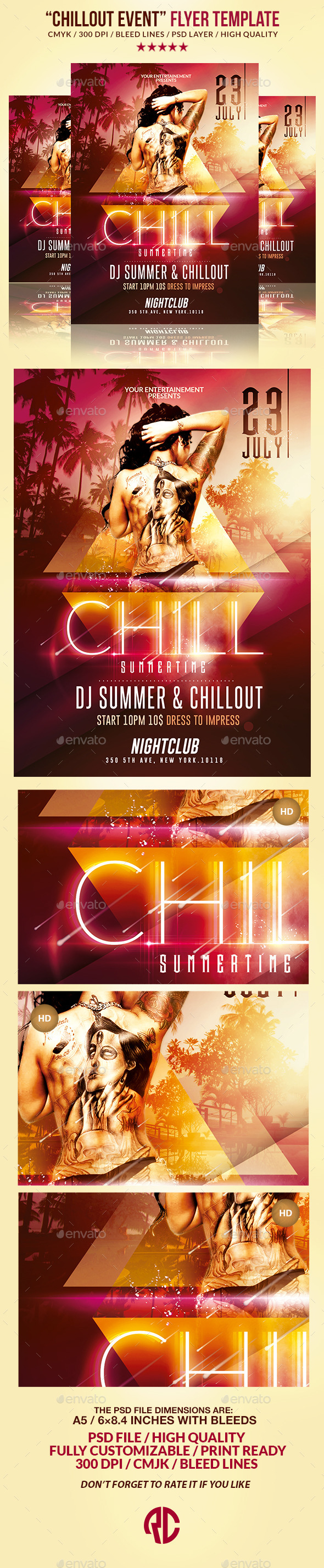 Summer Chill out | Psd Flyer Template - Events Flyers