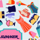 Fashion Boutique Summer sales Background. - GraphicRiver Item for Sale
