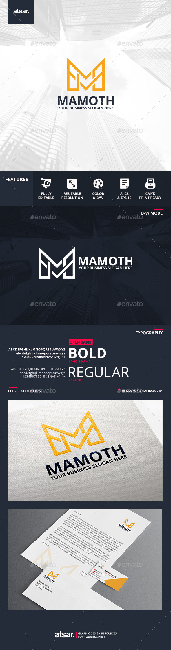 Mamoth Logo Template - Letters Logo Templates
