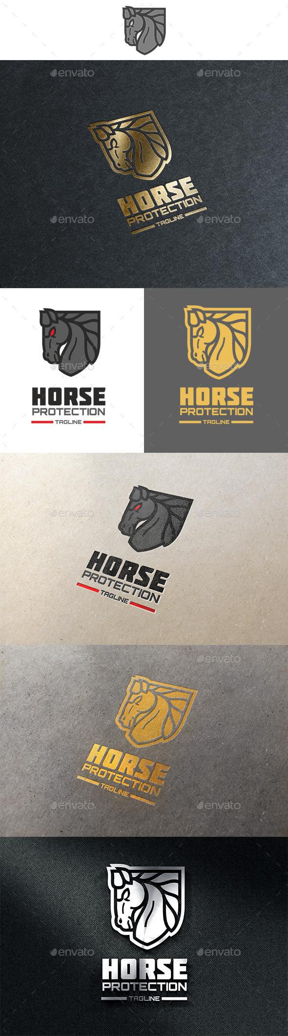 Horse Protection logo - Animals Logo Templates
