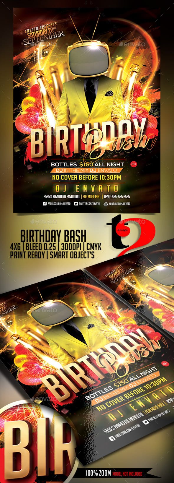 Birthday Bash Flyer - Party   - Clubs & Parties Events