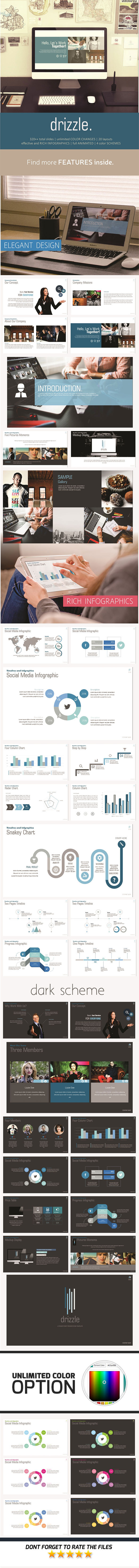 Drizzle PowerPoint Template - Business PowerPoint Templates
