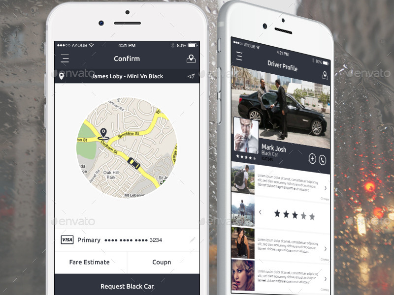 Igo - Mobile App UI Kit Design