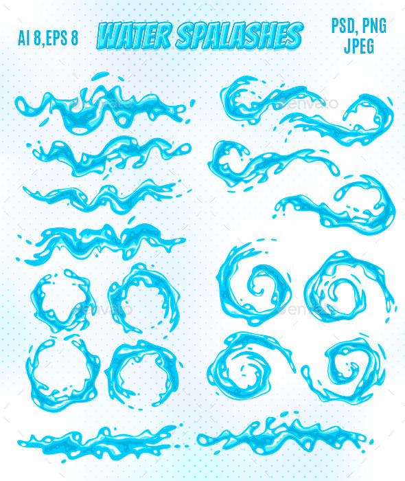Water Splashes - Organic Objects Objects