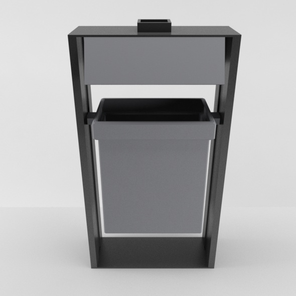 Outdoor Trash Can 02 - 3DOcean Item for Sale