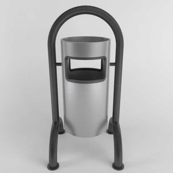 Outdoor Trash Can 06 - 3DOcean Item for Sale