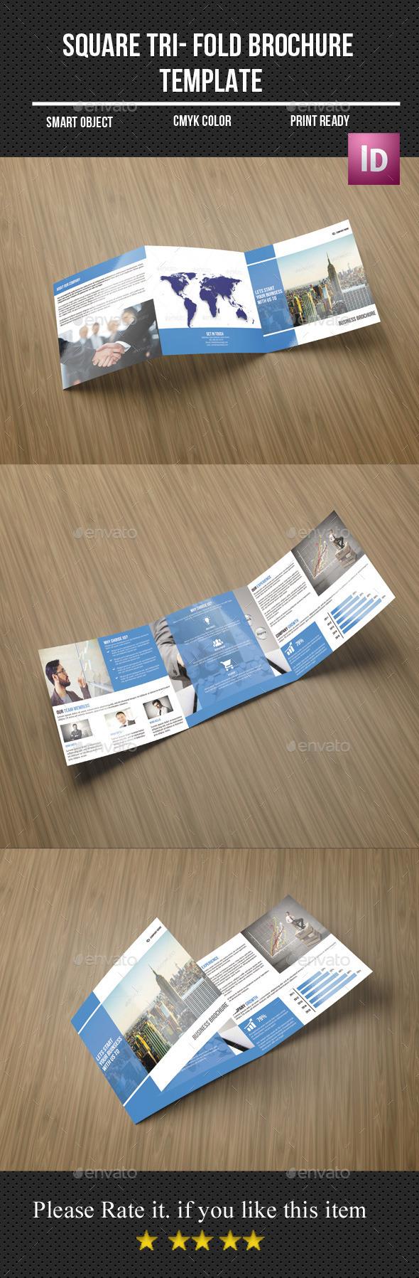 Corporate Square Tri - Fold Brochure - Corporate Brochures