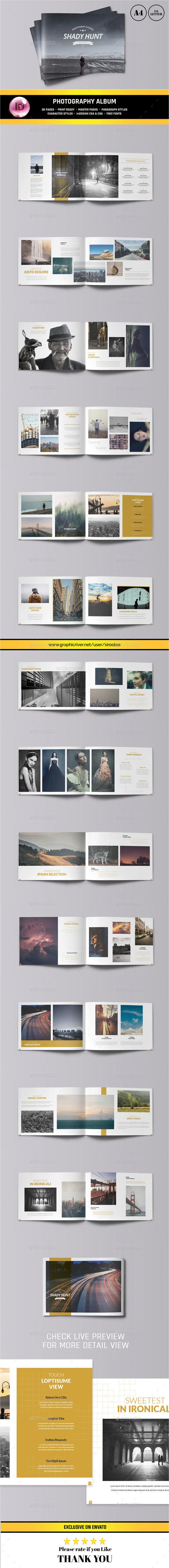Photography Portfolio Album - Photo Albums Print Templates