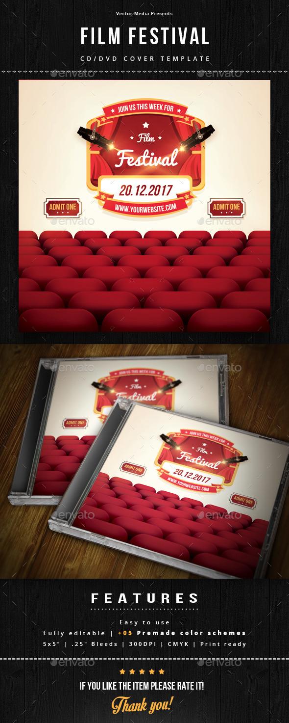 Film Festival - Cd Cover - CD & DVD Artwork Print Templates