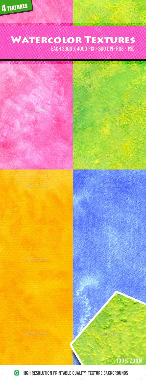 Watercolor Textures 4n2 - Textures