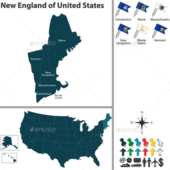 New England of United States - Travel Conceptual