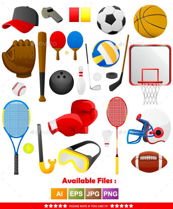 Sports Tools Vector - Sports/Activity Conceptual