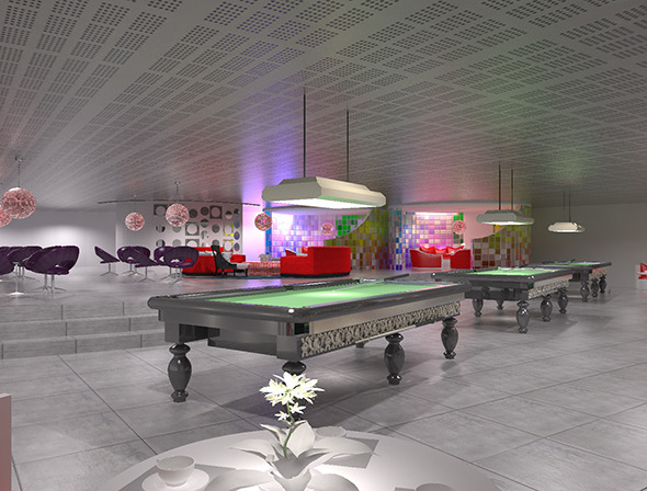 Game room, include restaurant and pool room. - 3DOcean Item for Sale