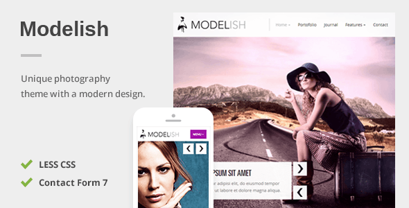Modelish – A Unique Photography WordPress Theme