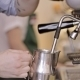 Barista Steaming Milk At The Coffee Machine - VideoHive Item for Sale