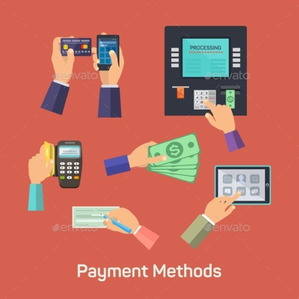 Vector Possibilities Of Payment Methods - Web Technology